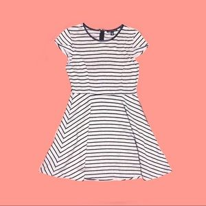 City Triangles Grey Black Striped Dress